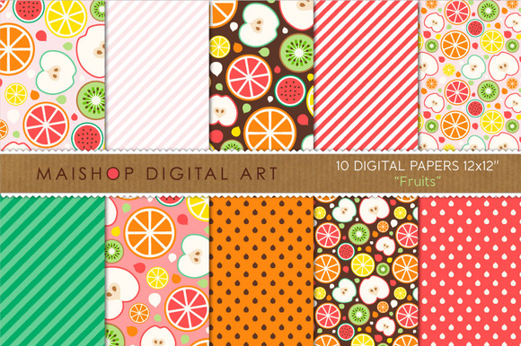 Digital Paper-Fruits