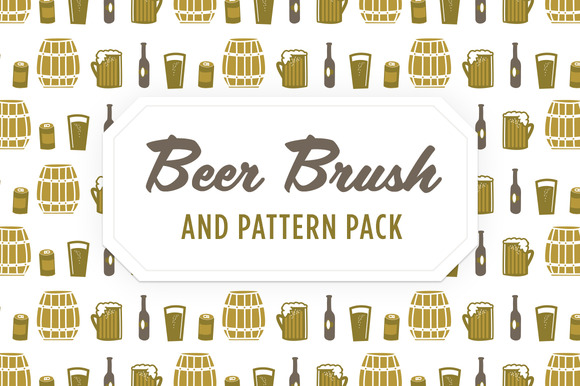 Beer Vector Brush Pattern Icons