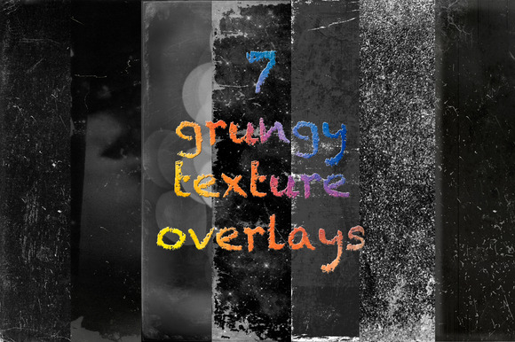 7 Grungy Texture Overlays