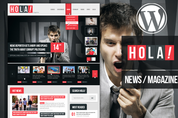 Hola News Magazine Wordpress