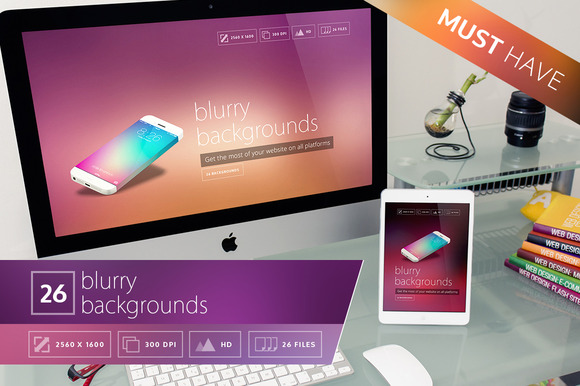 26 Blurry Backgrounds Pack