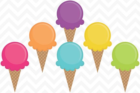 Clip Art Vector Ice Cream Cones