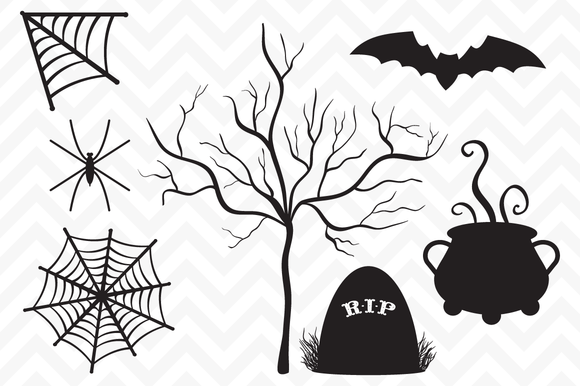 Clip Art Vector Halloween Silhouette