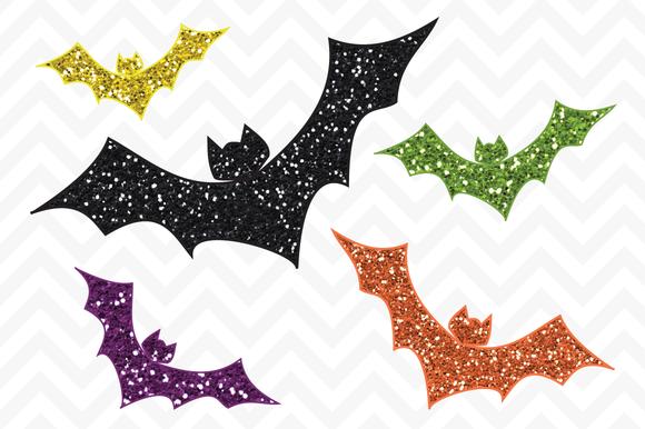 Clip Art Halloween Glitter Bats