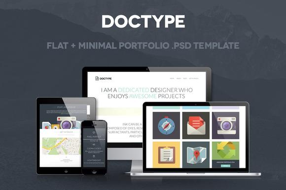 Doctype A Portfolio Psd Template