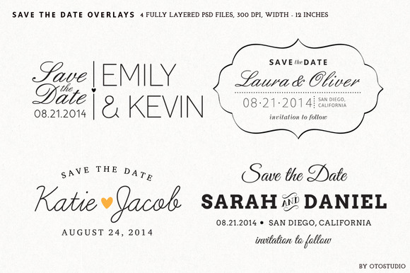 Save The Date Overlays Set 2