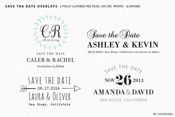 Save The Date Overlays Set 3