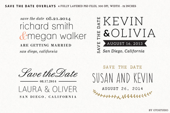 Save The Date Overlays Set 4