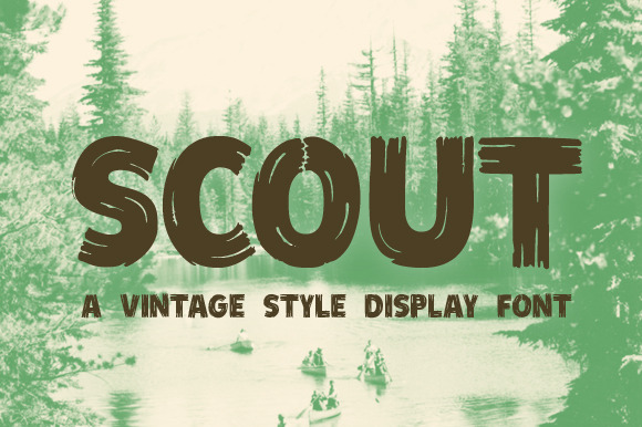 Scout Vintage Style Display Font