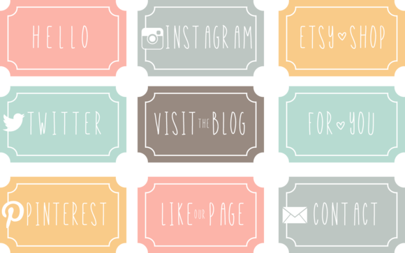 Facebook Or Blog Buttons