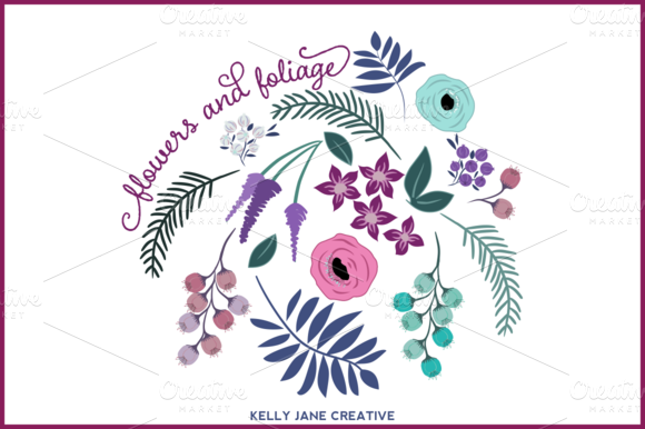Flowers And Foliage Clipart