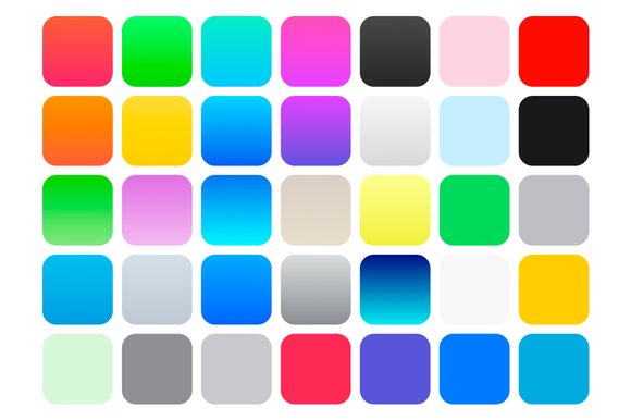IOS 7 Color Swatches Gradients