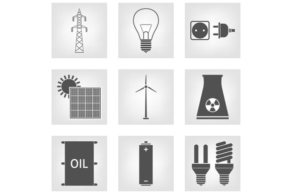 Energy Electricity Icons