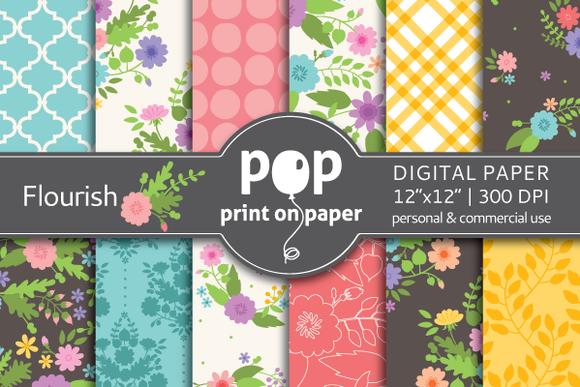 Flourish Floral 12 Digital Papers