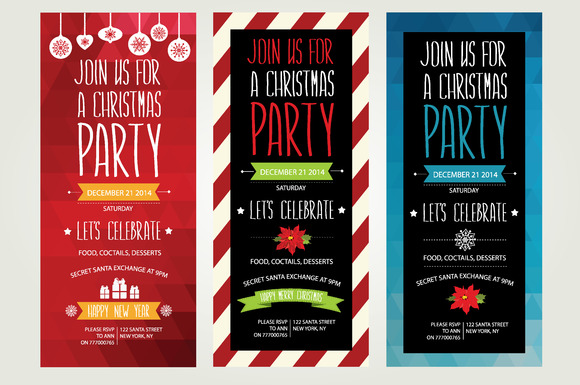 3 Christmas Invitations