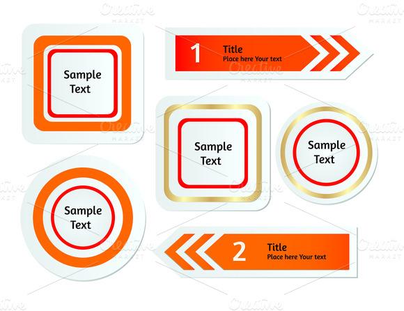 Vector Stickers Set