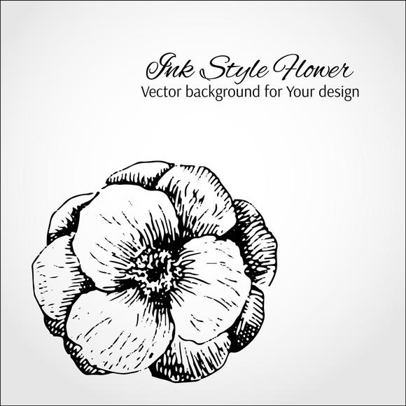 Ink Flower Card