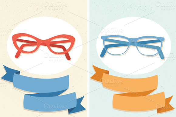 Vector Glasses Ribbons A Pattern