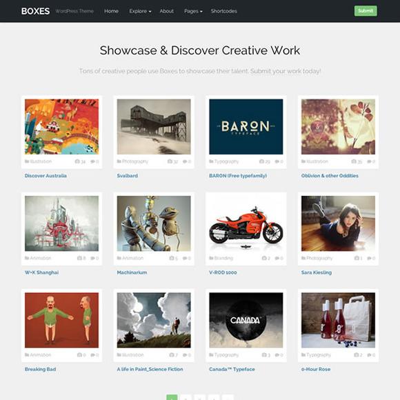 Boxes Responsive WordPress Theme