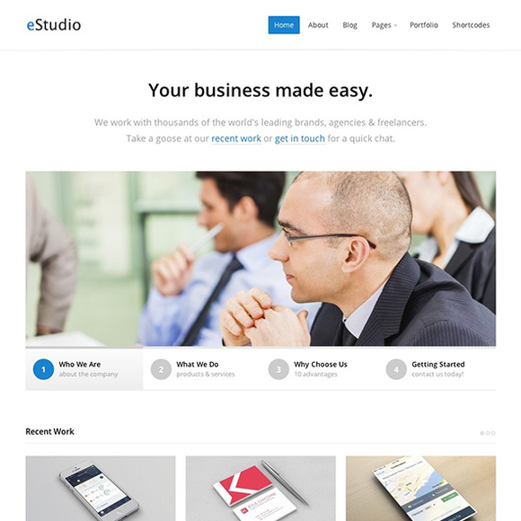 EStudio WordPress Business Theme