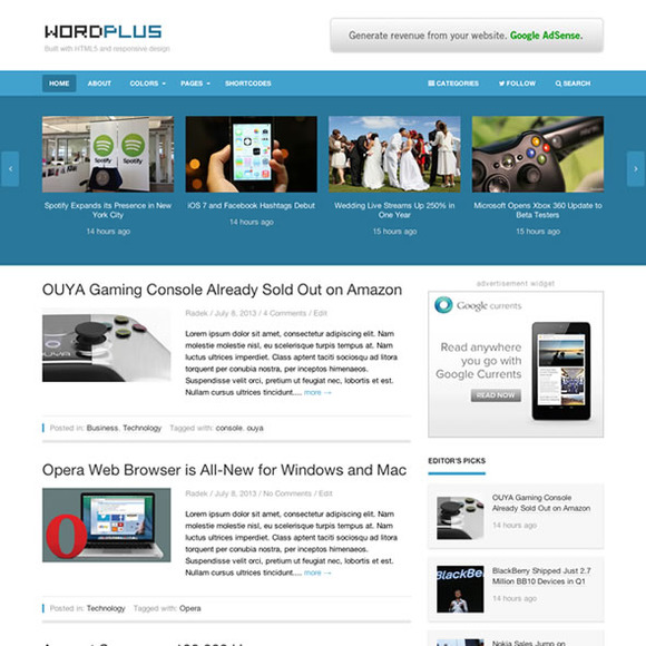 WordPlus WordPress Magazine Theme