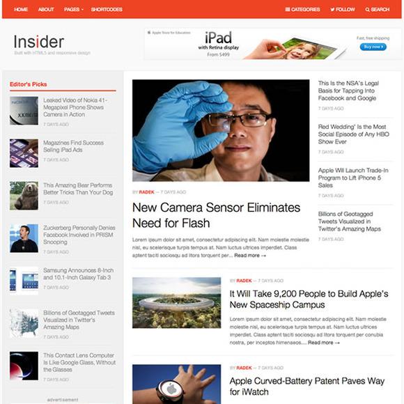 Insider WordPress Magazine Theme