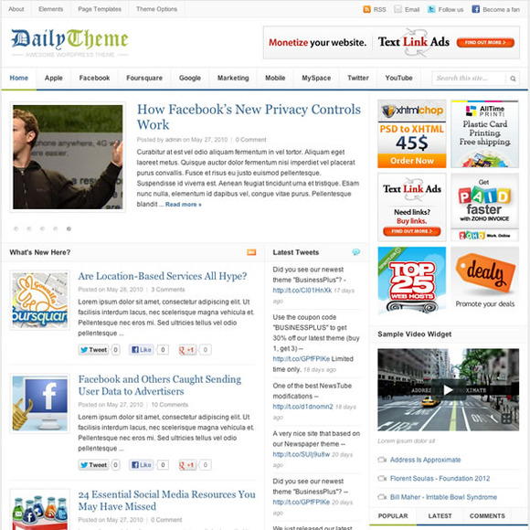 Daily WP Blog Magazine Theme
