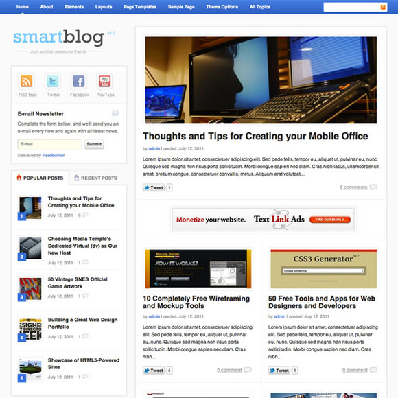 SmartBlog WP Blog Magazine Theme