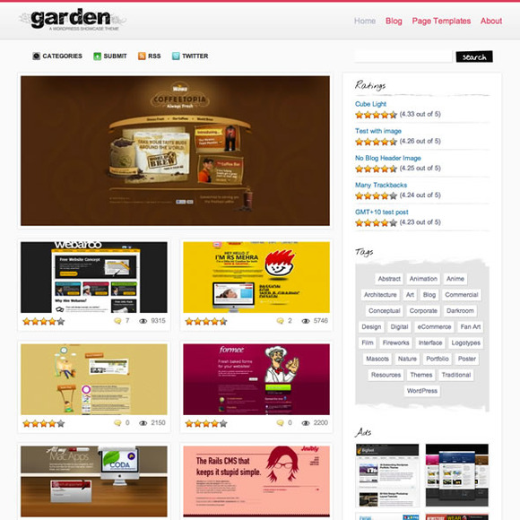 Garden WordPress Gallery Theme