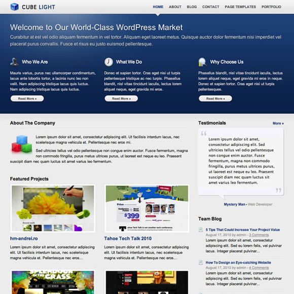 CubeLight WordPress Business Theme