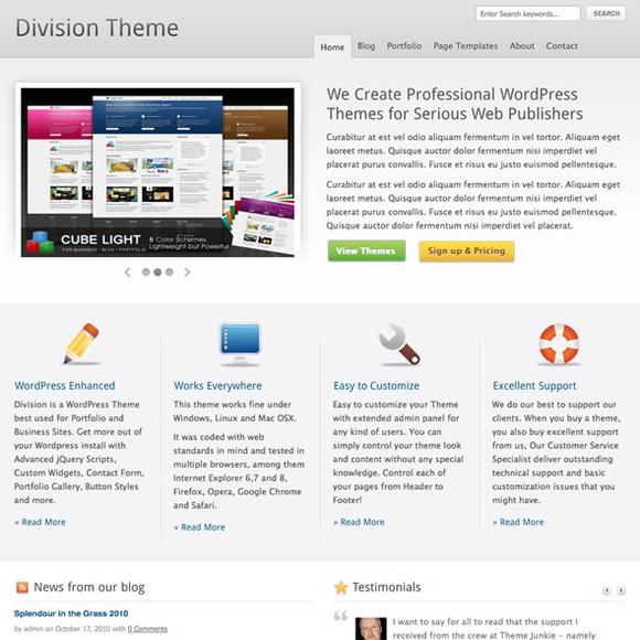 Division WordPress Business Theme
