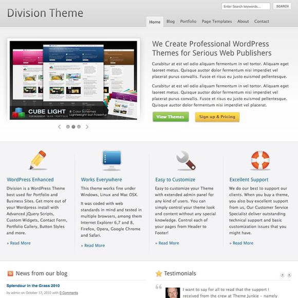 Division WordPress Business Theme