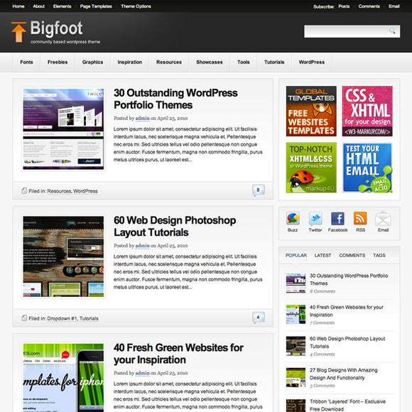 Bigfoot WP Blog Magazine Theme