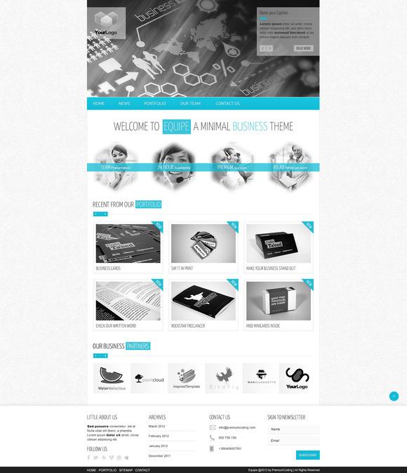 Equipe PSD Website Template