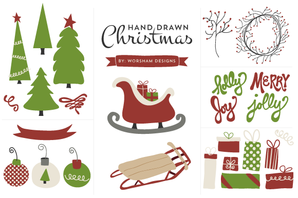 Hand Drawn Christmas Clipart
