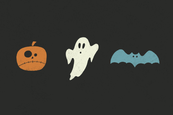 Halloween Pack Ghosts Pumpkins Bats