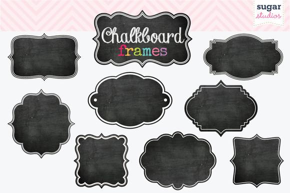 Chalkboard Frames Clipart Set 1