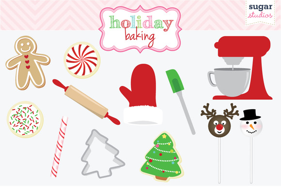 Holiday Baking Digital Clipart