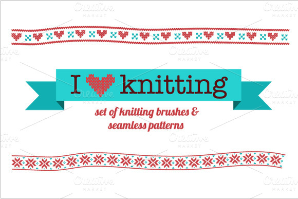 Knitting Vector Brushes Patterns