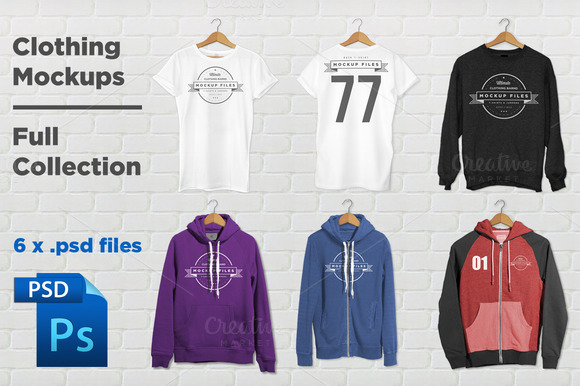 Clothing Mockups Full Collection