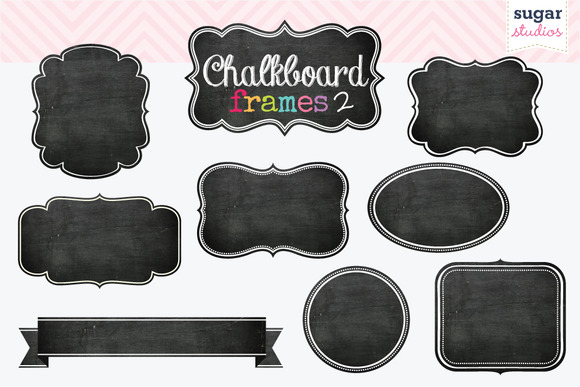 Chalkboard Frames Clipart Set 2