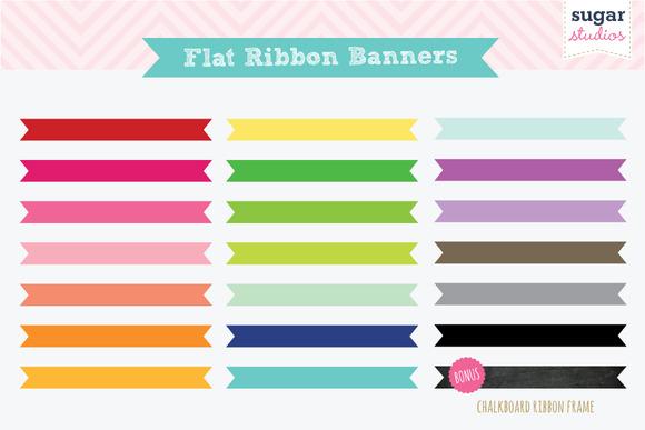 Flat Ribbon Banners