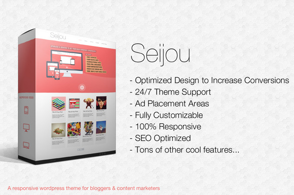 Seijou Theme For Content Marketers