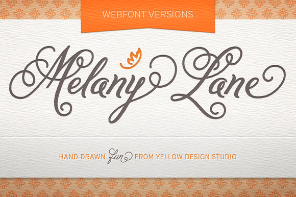 Melany Lane Webfonts
