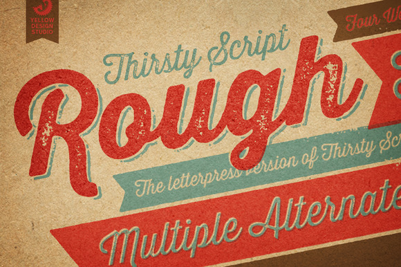 Thirsty Rough Webfonts