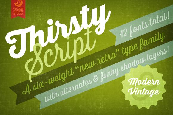 Thirsty Script Webfonts