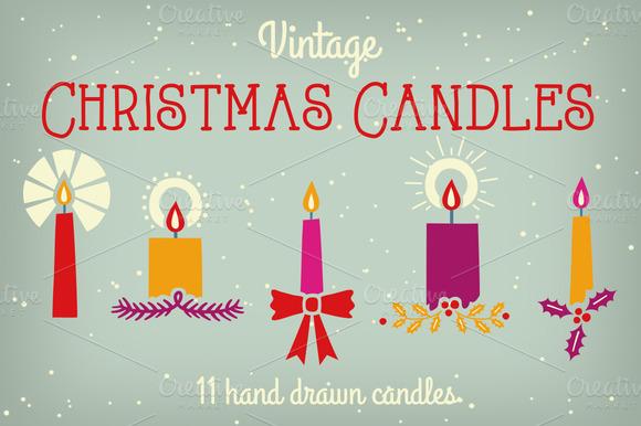 Vintage Christmas Candles