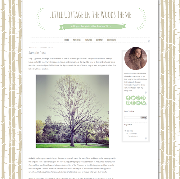 Cottage In The Woods Blogger Theme