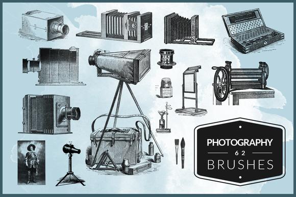 62 Photography Photoshop Brushes