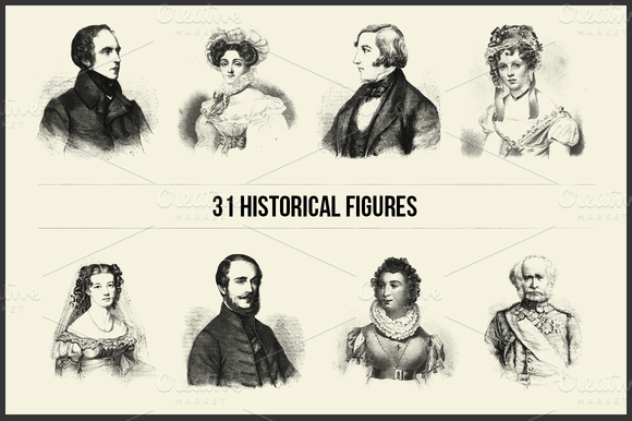 31 Historical Figures PS Brushes